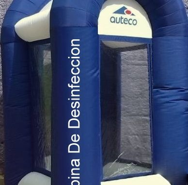 cabina de desinfeccion inflable